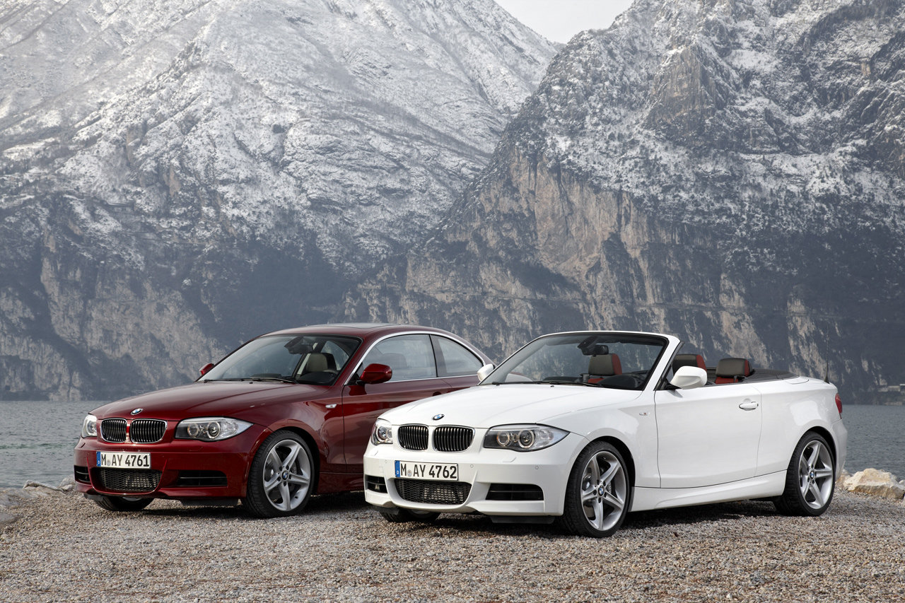 official photos 2012 bmw 1 series cabrio and coupe